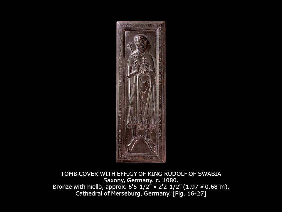 TOMB COVER WITH EFFIGY OF KING RUDOLF OF SWABIA Saxony, Germany. c
