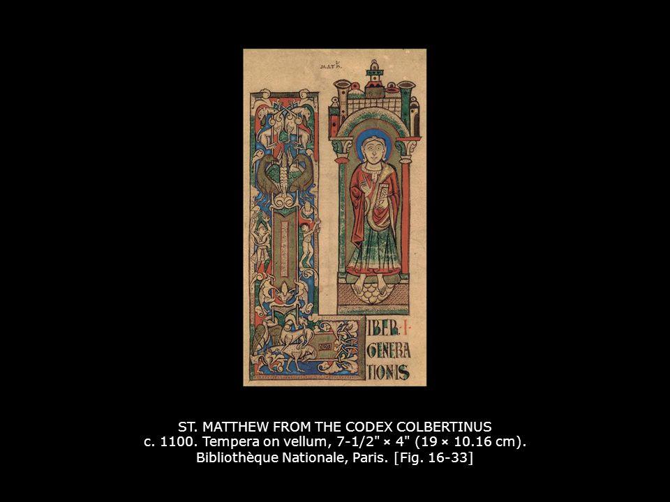 ST. MATTHEW FROM THE CODEX COLBERTINUS c. 1100
