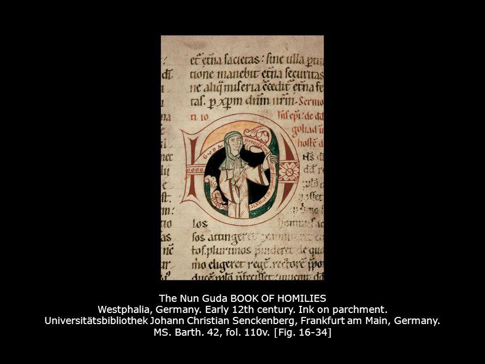 The Nun Guda BOOK OF HOMILIES Westphalia, Germany. Early 12th century
