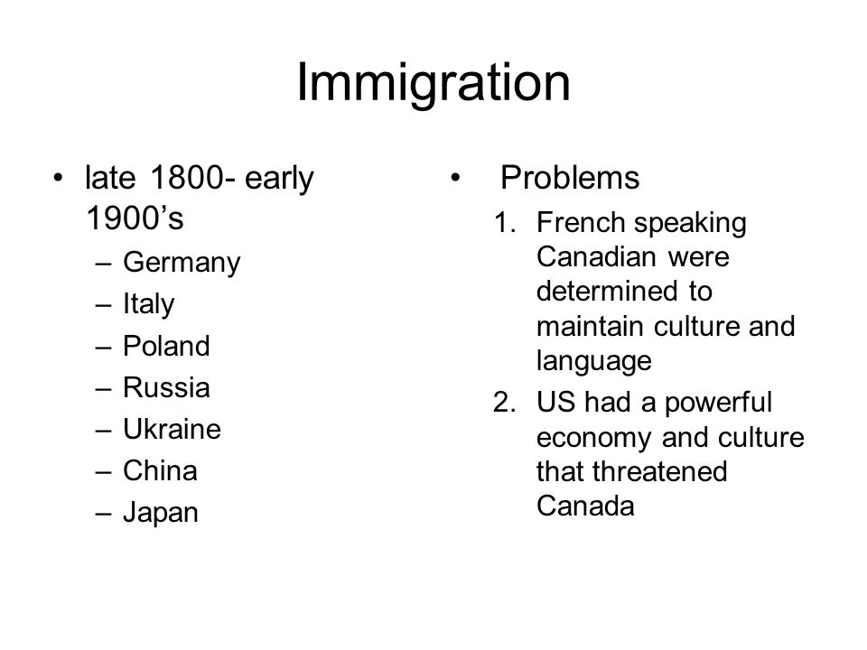 Immigration late 1800- early 1900's Problems