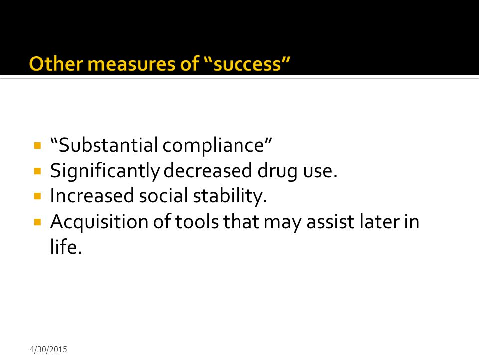 Other measures of success