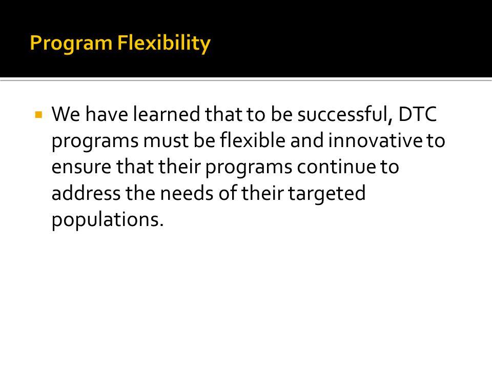 Program Flexibility