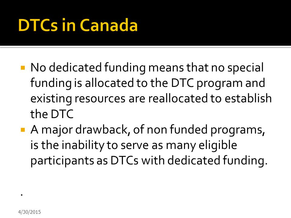 DTCs in Canada