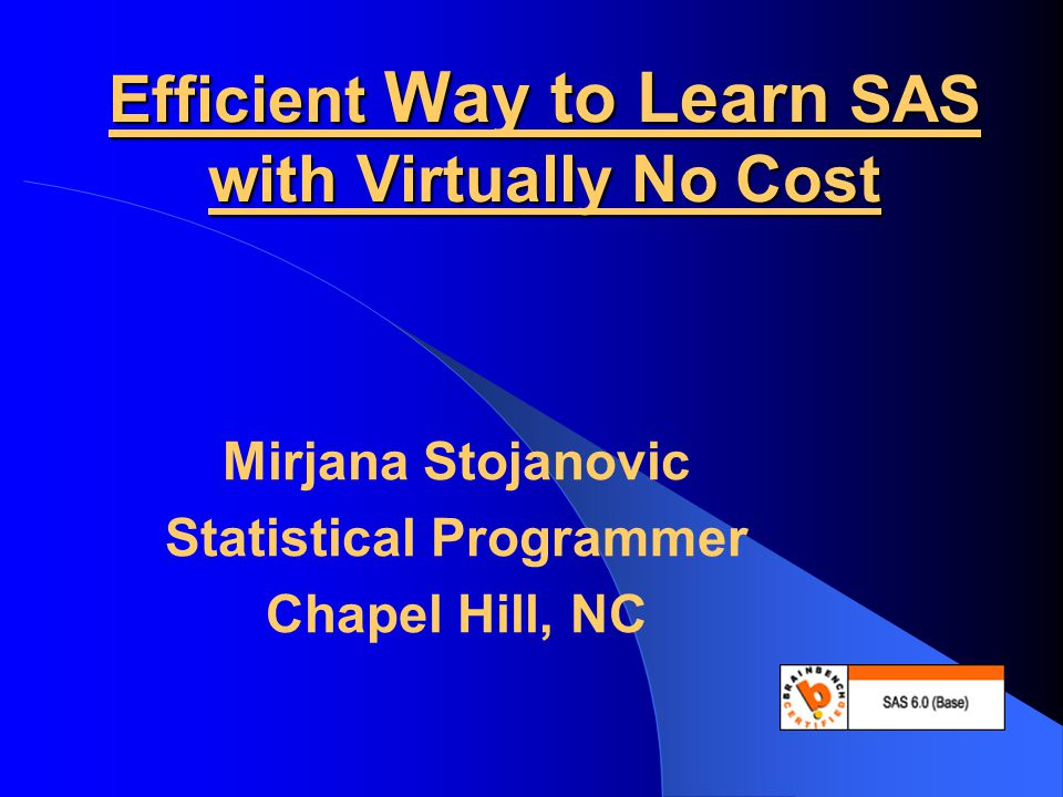 Efficient Way to Learn SAS with Virtually No Cost