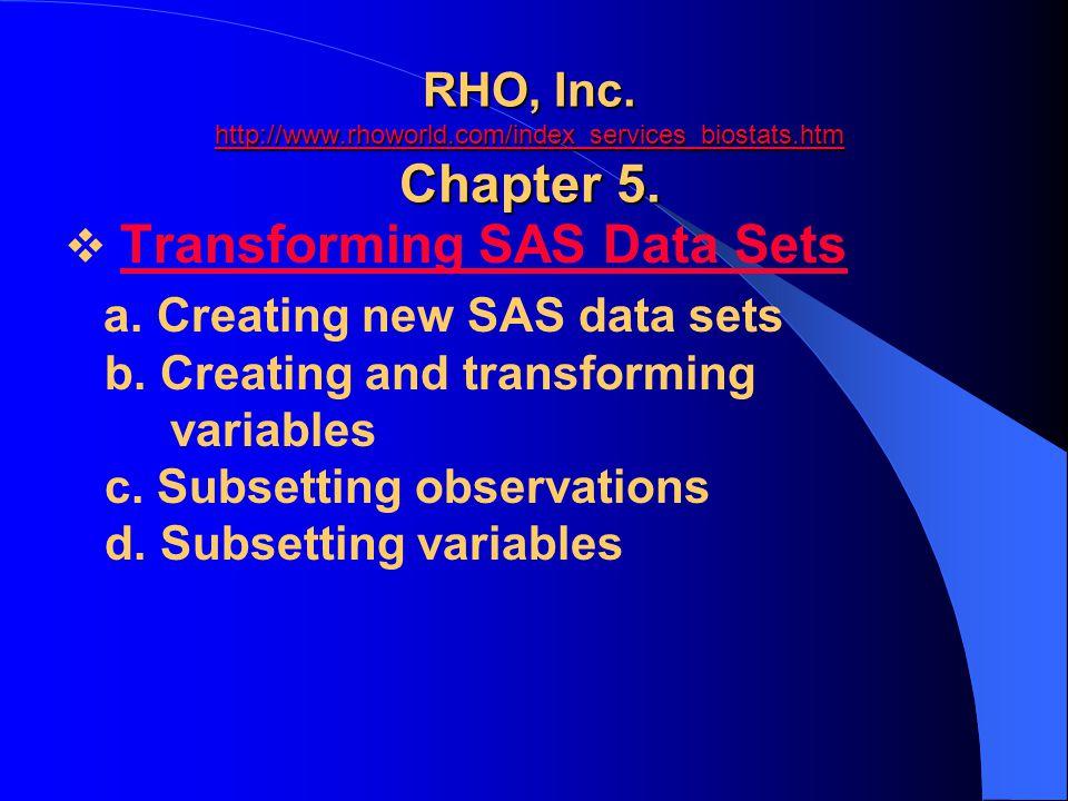 RHO, Inc. http://www. rhoworld. com/index_services_biostats