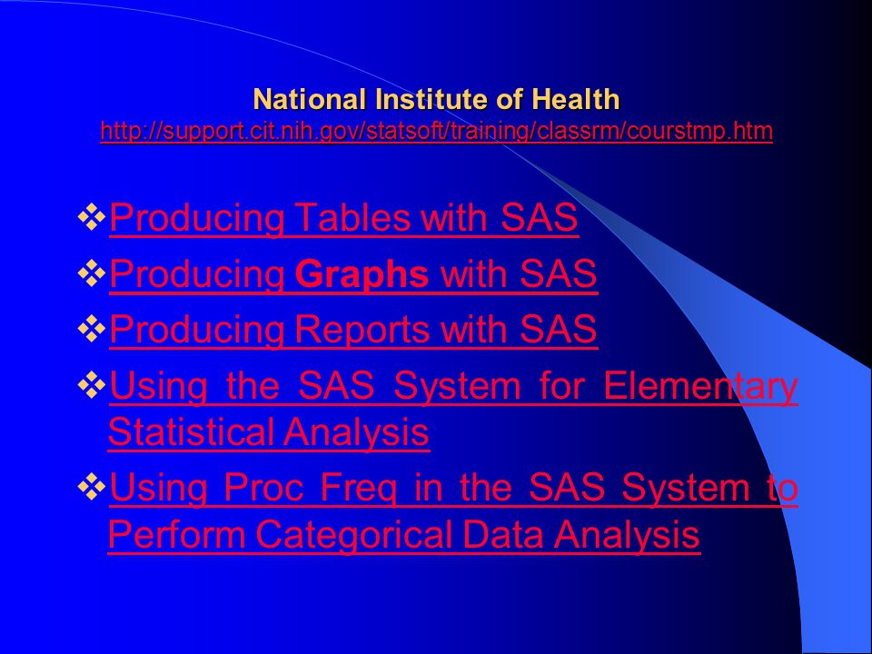Producing Tables with SAS Producing Graphs with SAS