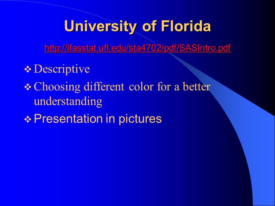 University of Florida http://ifasstat.ufl.edu/sta4702/pdf/SASIntro.pdf