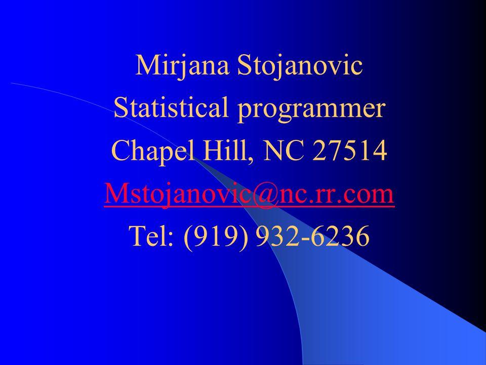 Statistical programmer