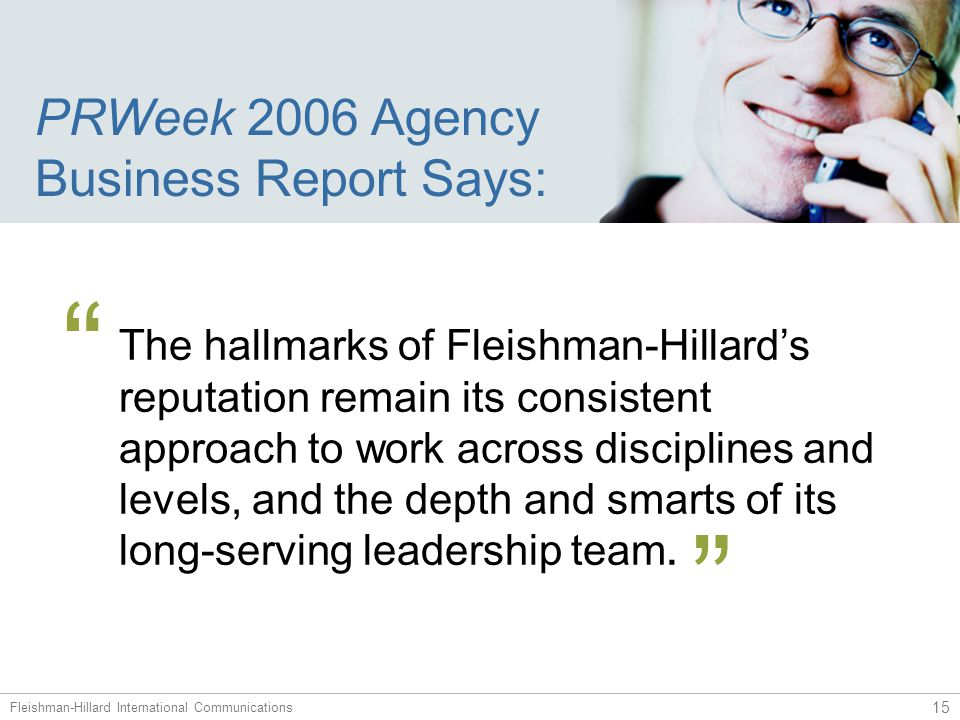 PRWeek 2005 Agency Excellence Survey Says: