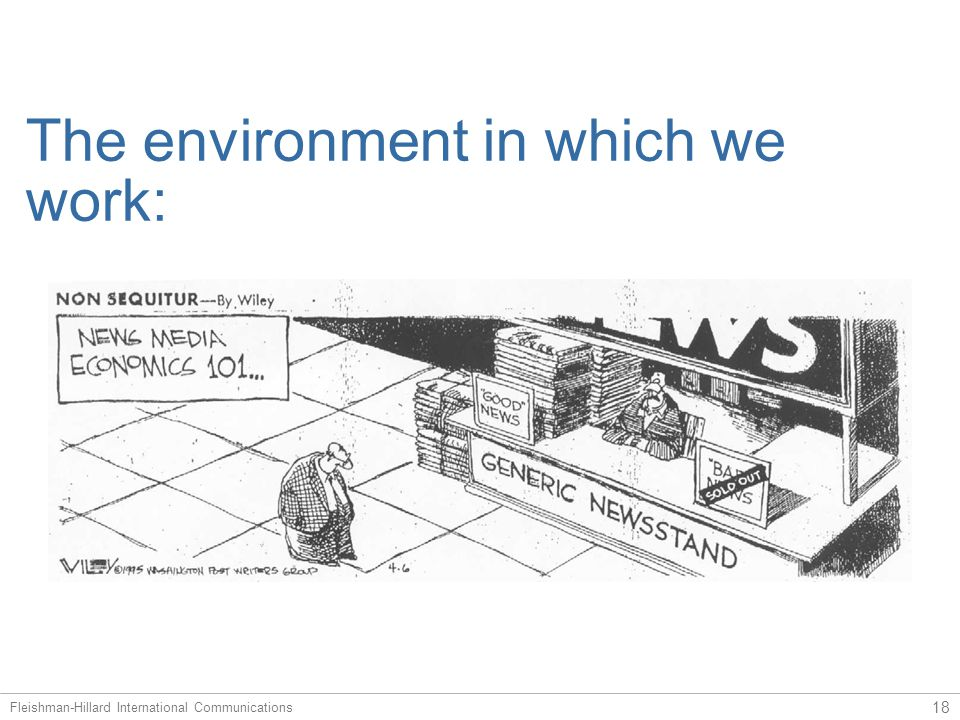 The environment in which we work …