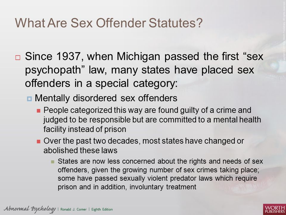 What Are Sex Offender Statutes
