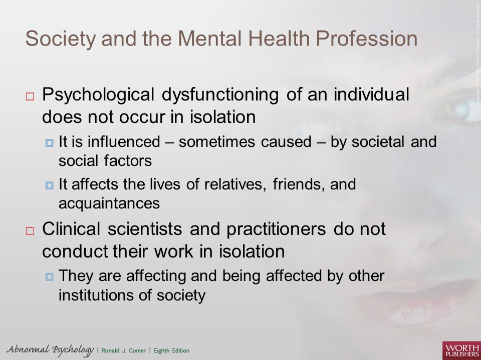 Society and the Mental Health Profession