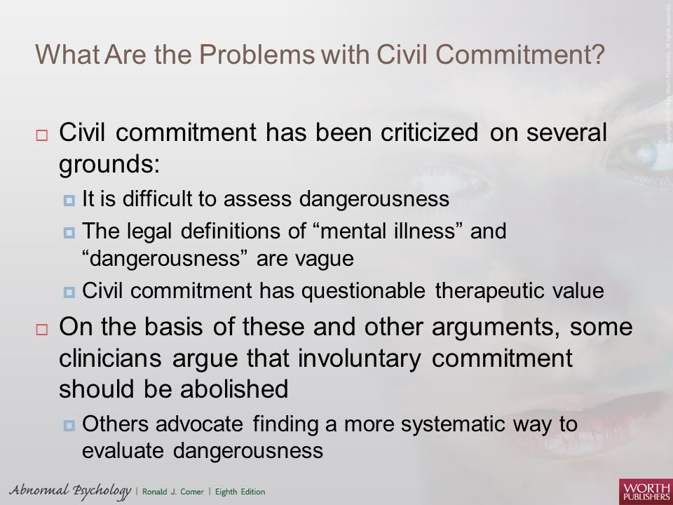 What Are the Problems with Civil Commitment