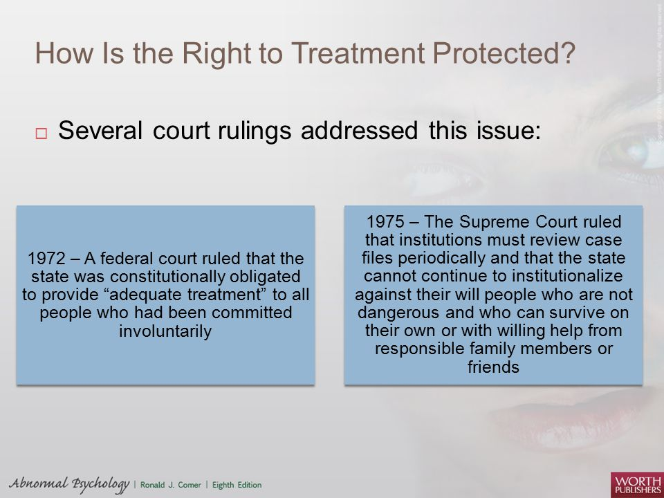 How Is the Right to Treatment Protected