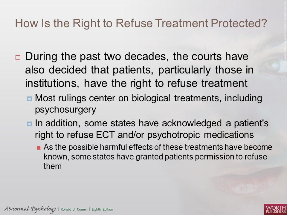How Is the Right to Refuse Treatment Protected