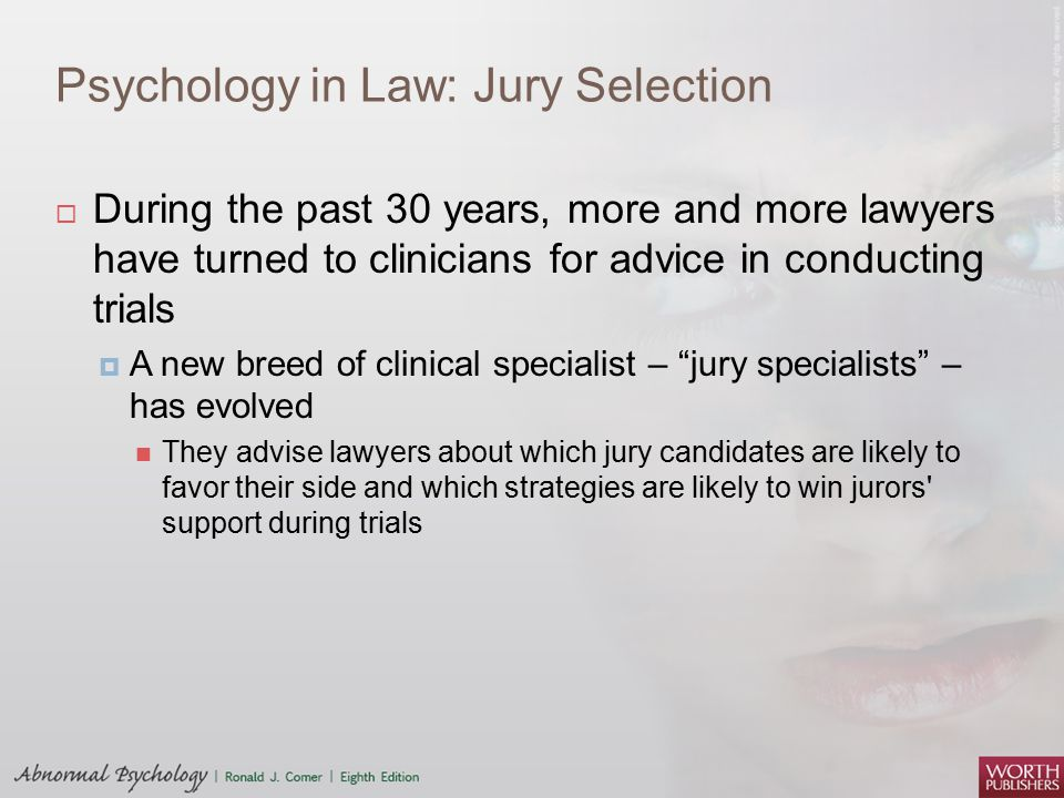 Psychology in Law: Jury Selection