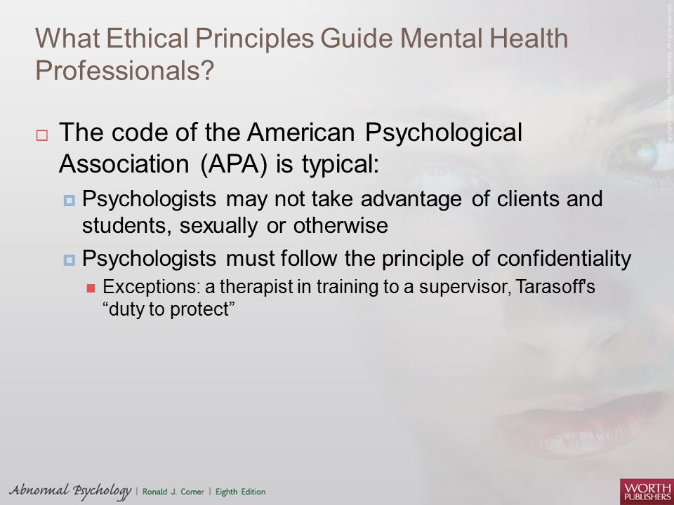 What Ethical Principles Guide Mental Health Professionals