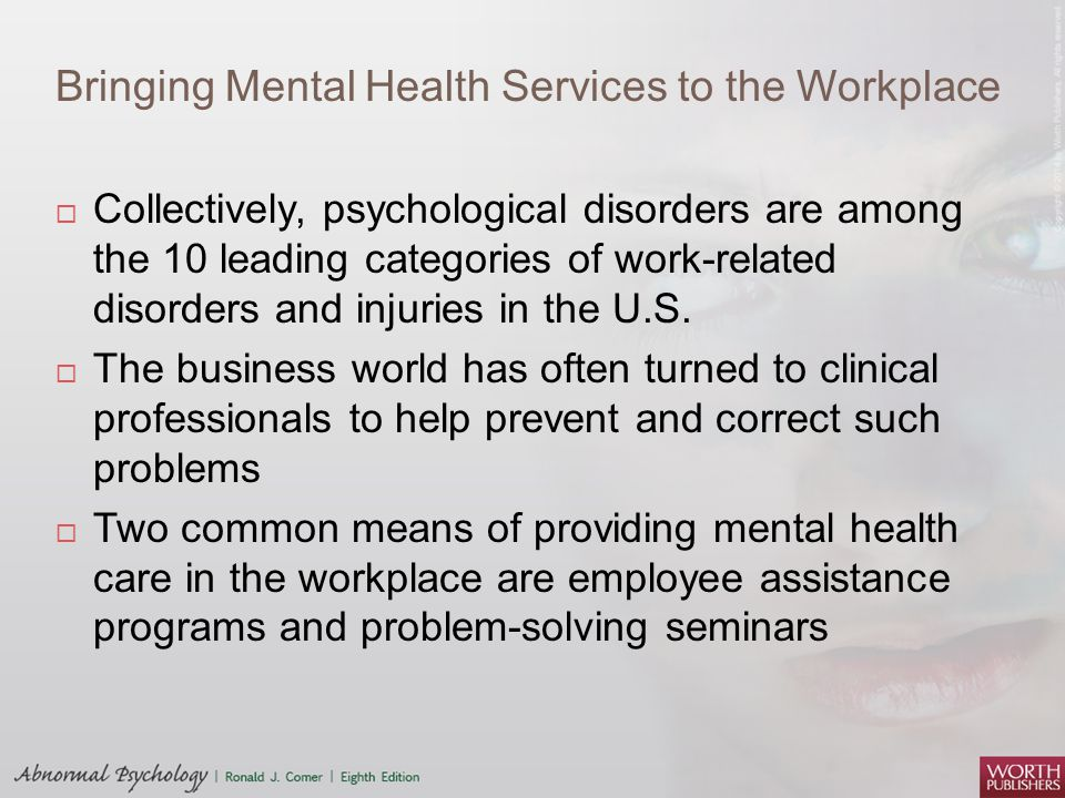 Bringing Mental Health Services to the Workplace
