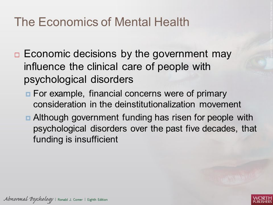 The Economics of Mental Health
