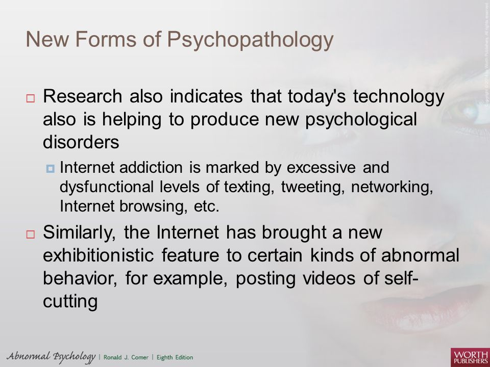 New Forms of Psychopathology