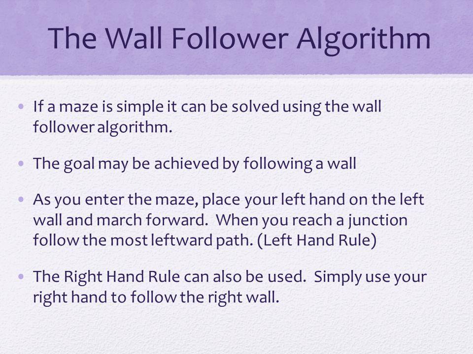 The Wall Follower Algorithm
