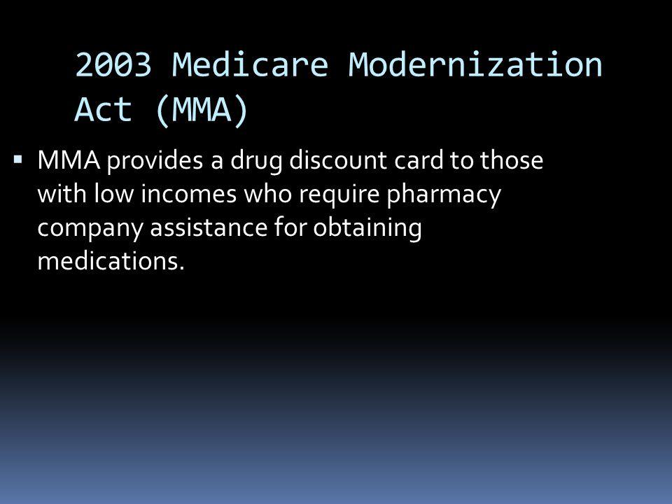 2003 Medicare Modernization Act (MMA)