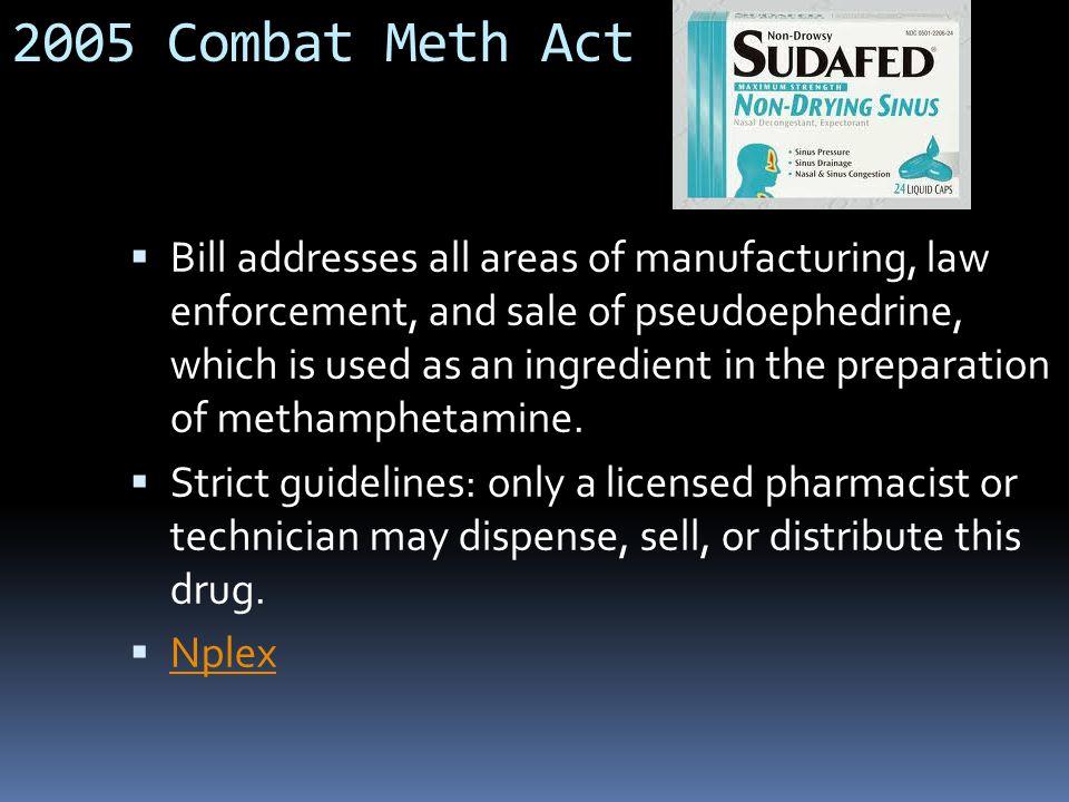 2005 Combat Meth Act