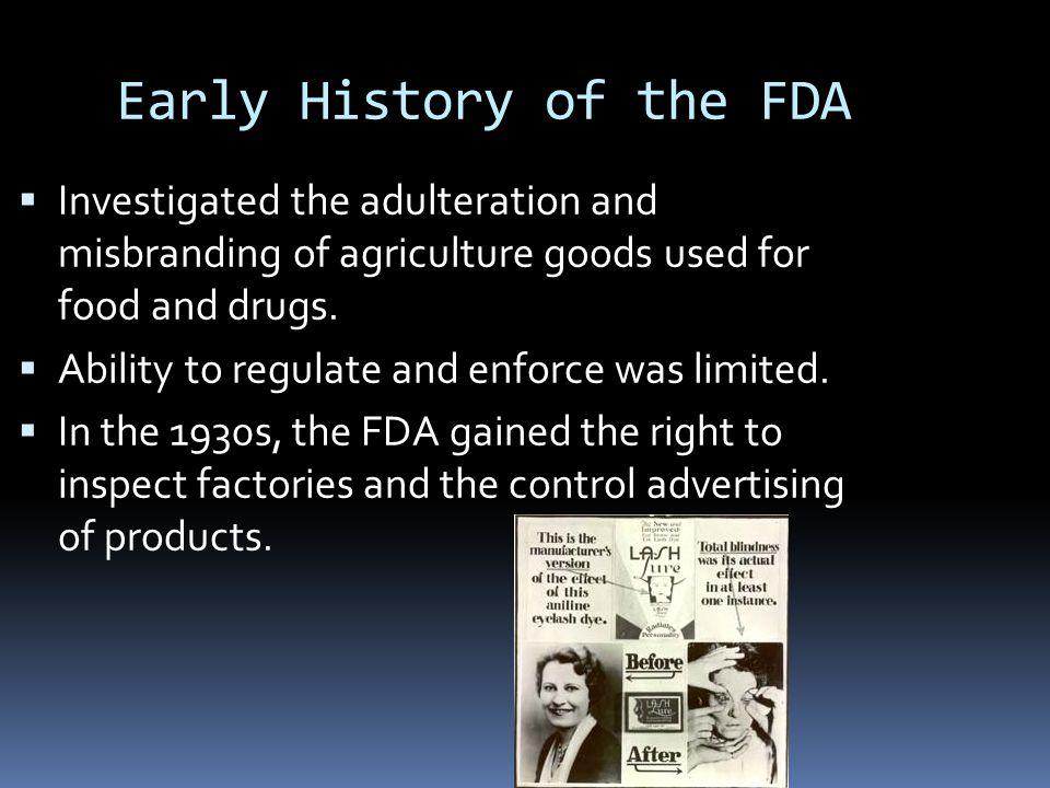 Early History of the FDA