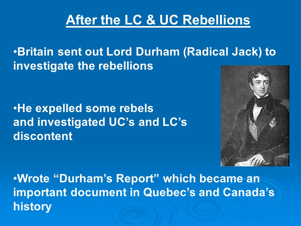 After the LC & UC Rebellions
