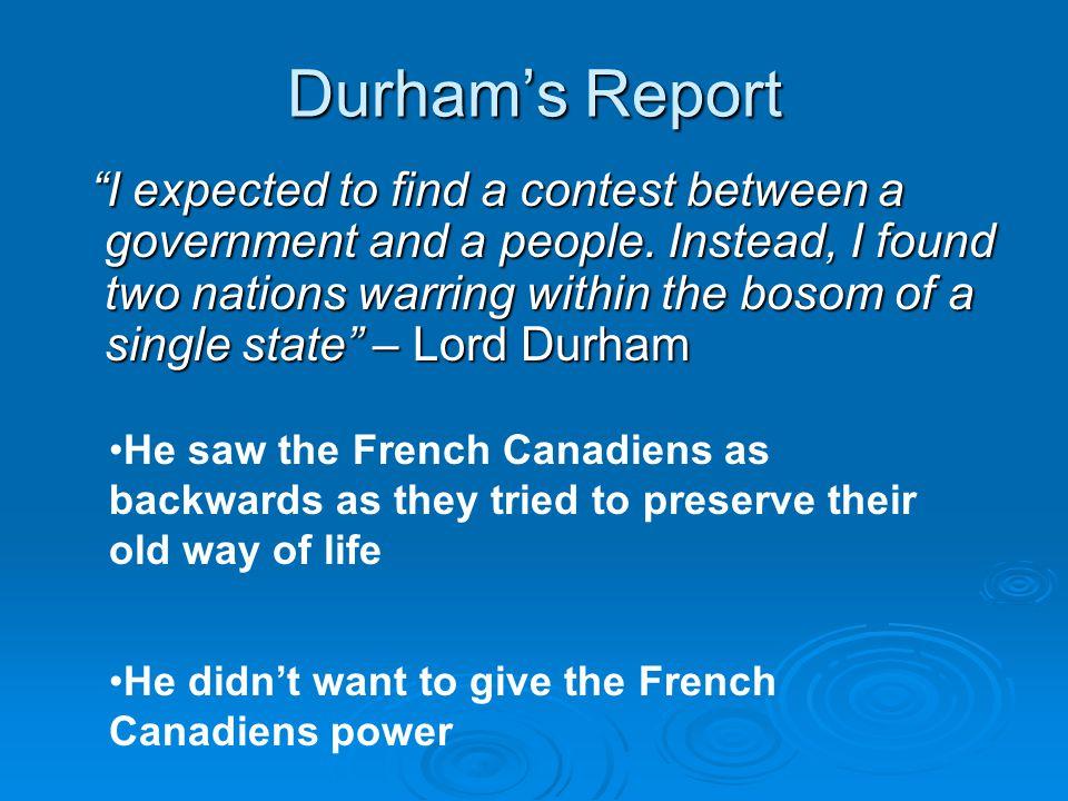 Durham's Report