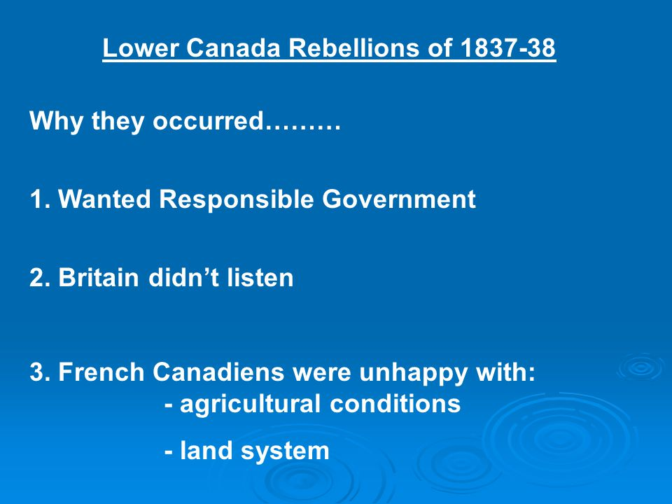 Lower Canada Rebellions of 1837-38