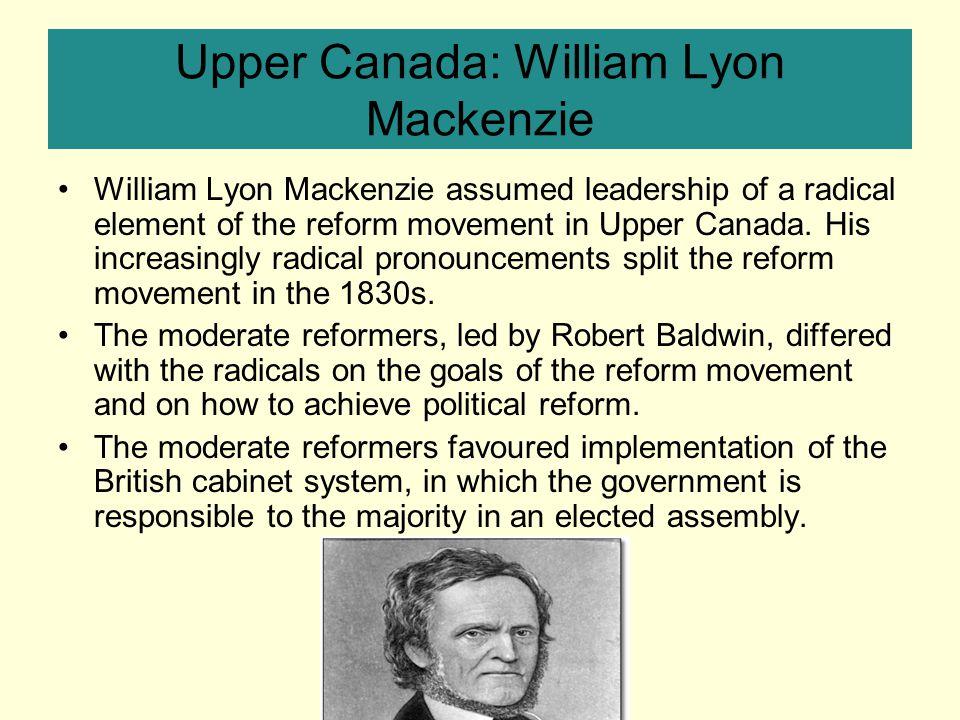 Upper Canada: William Lyon Mackenzie