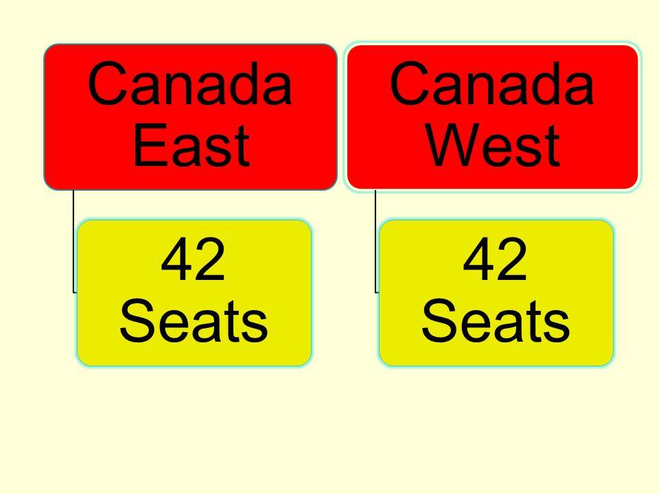 Canada East 42 Seats Canada West