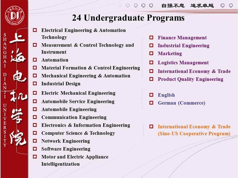24 Undergraduate Programs