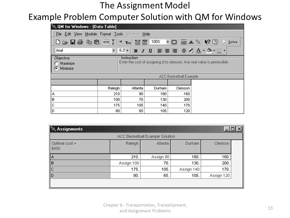Chapter 6 - Transportation, Transshipment, and Assignment Problems