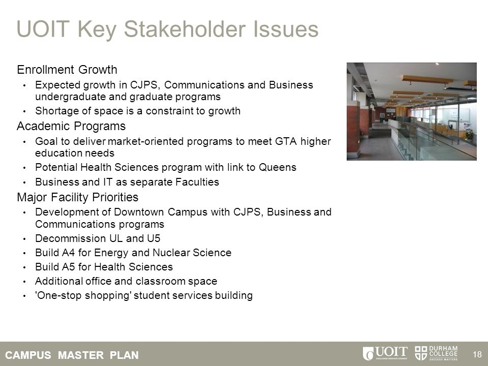UOIT Key Stakeholder Issues