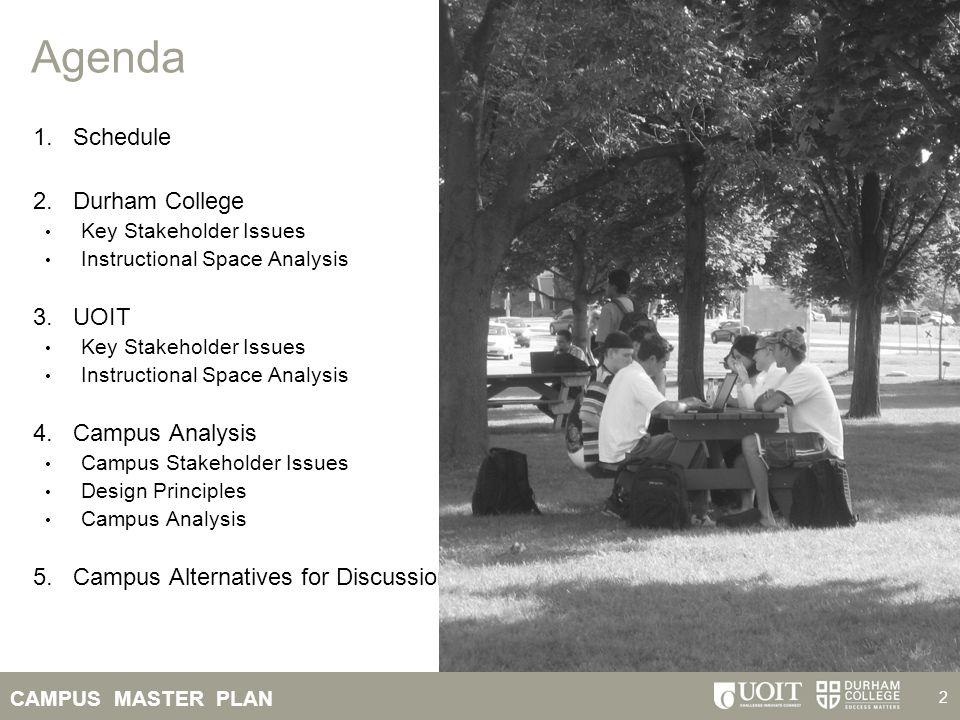 Agenda Schedule Durham College UOIT Campus Analysis