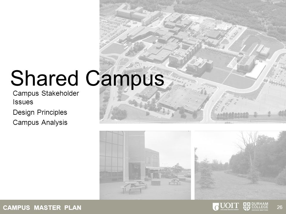 Shared Campus Campus Stakeholder Issues Design Principles