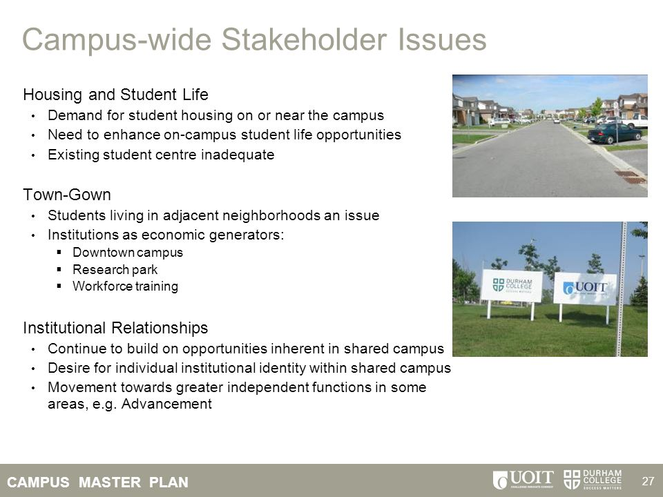 Campus-wide Stakeholder Issues