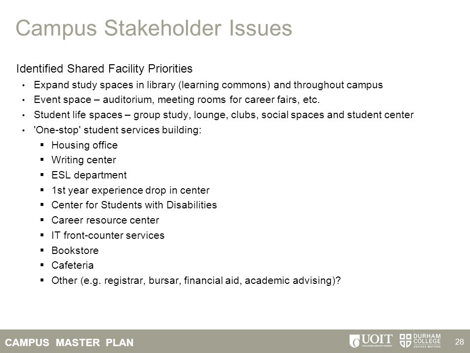 Campus Stakeholder Issues