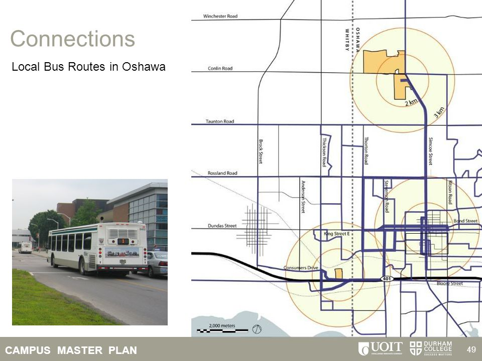 Connections Local Bus Routes in Oshawa