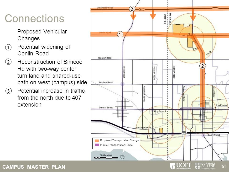 Connections Proposed Vehicular Changes