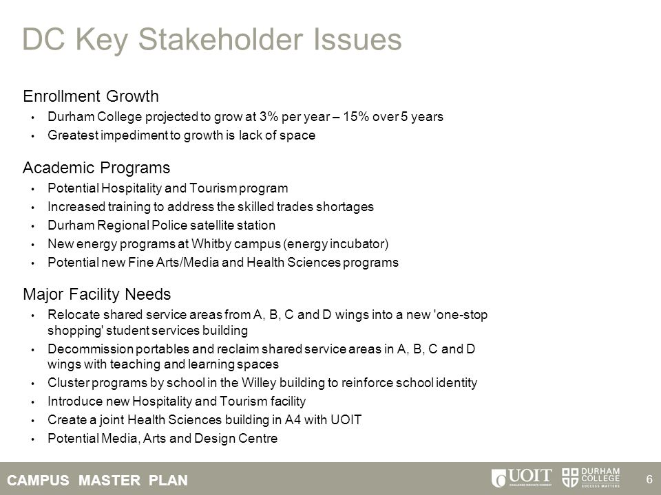 DC Key Stakeholder Issues