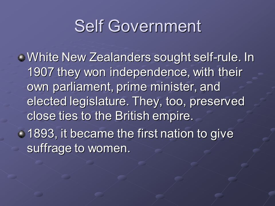 Self Government