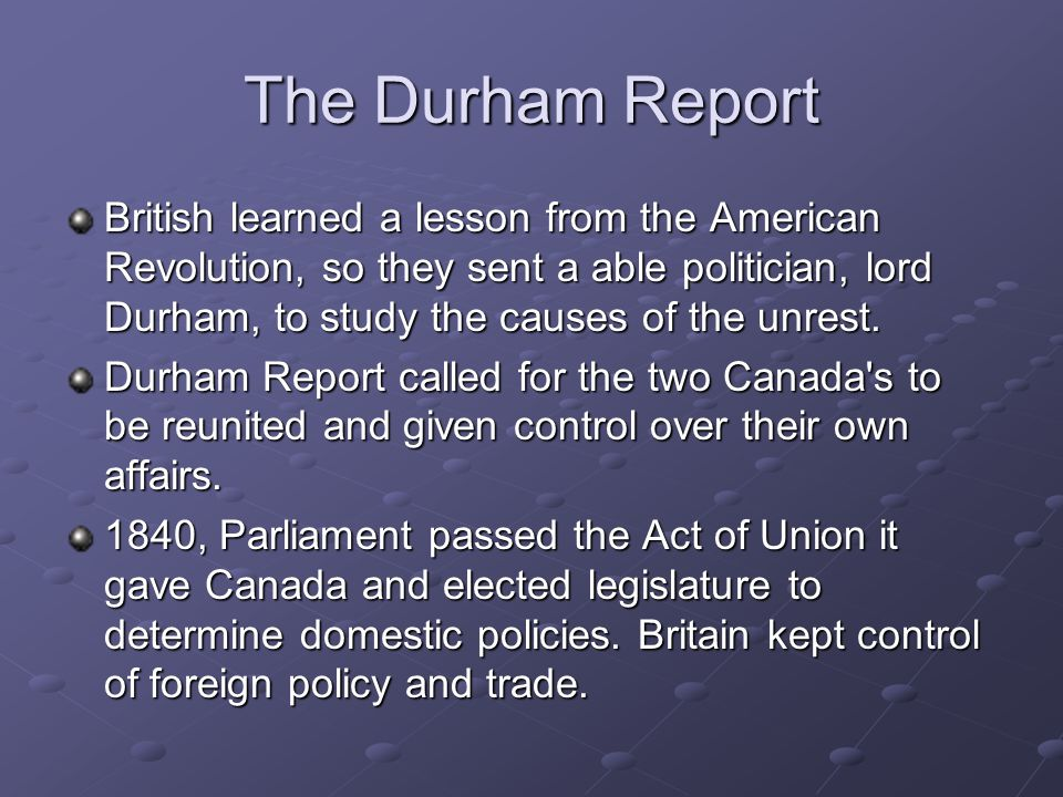 The Durham Report