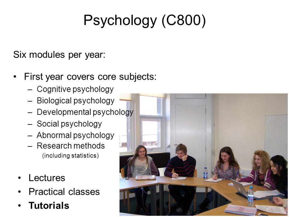 Psychology (C800) Six modules per year: