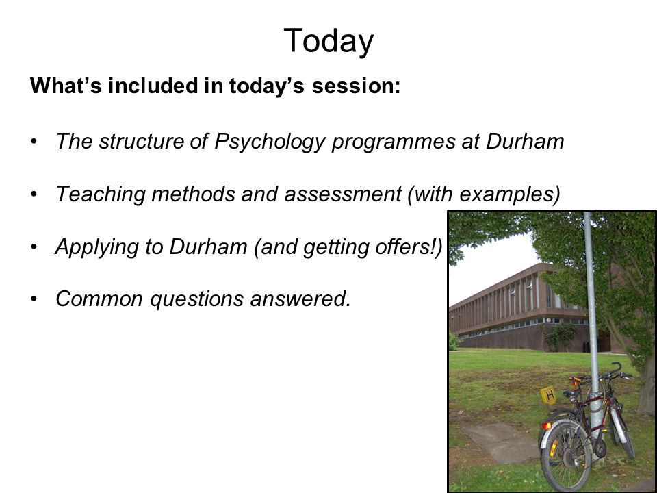 Today What's included in today's session:
