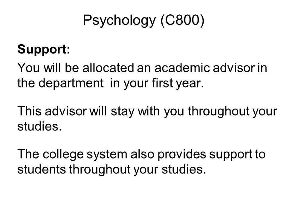 Psychology (C800)