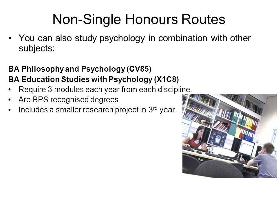 Non-Single Honours Routes