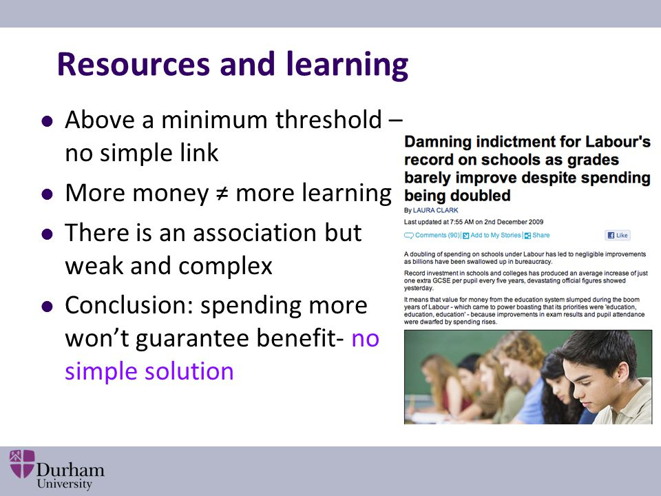 Resources and learning